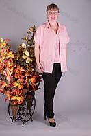 Блуза 2906-459/3 шифон больших размеров оптом