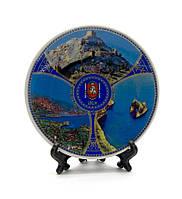 Тарелка керамическая на подставке Крым (12,5 см)