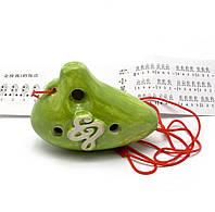 Свистулька керамическая Амфора зеленая (8,5х6х4 см)