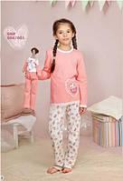 Пижама для девочки длинный рукав р.92-116, 100% хлопок, ELLEN