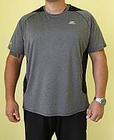 Мужская футболка Kalenji 114-123 серая с черным код 0117В
