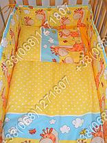 Бортики в детскую кроватку защита бампер Жираф желтый, фото 3