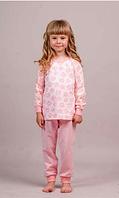 Пижама для девочки длинный рукав р.122-140, 100% хлопок, ELLEN