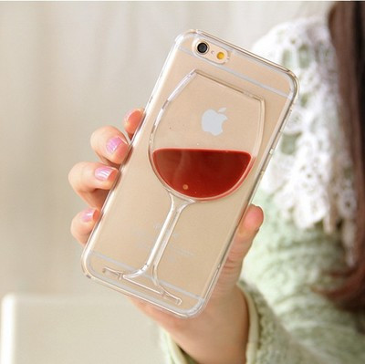 Чехол накладка Red Wine Cup Liquid Transparent Case для iPhone 4/4S, Винница