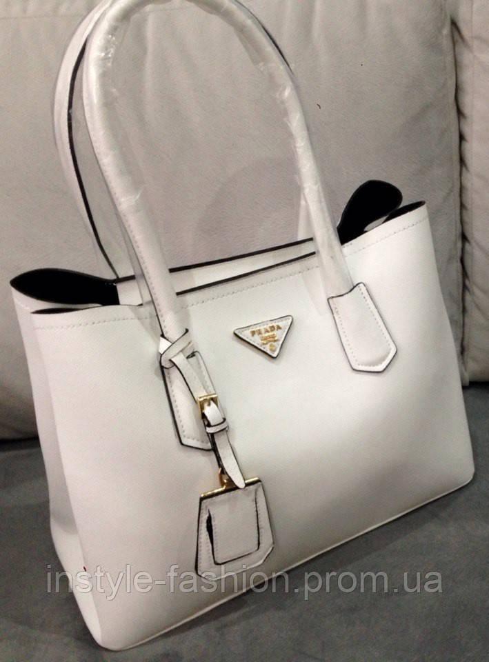 32e67c30194a Сумка Prada белая, женская сумка прада из эко кожи - Сумки брендовые,  кошельки,
