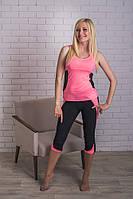 Костюм спортивный летний розовый, фото 1