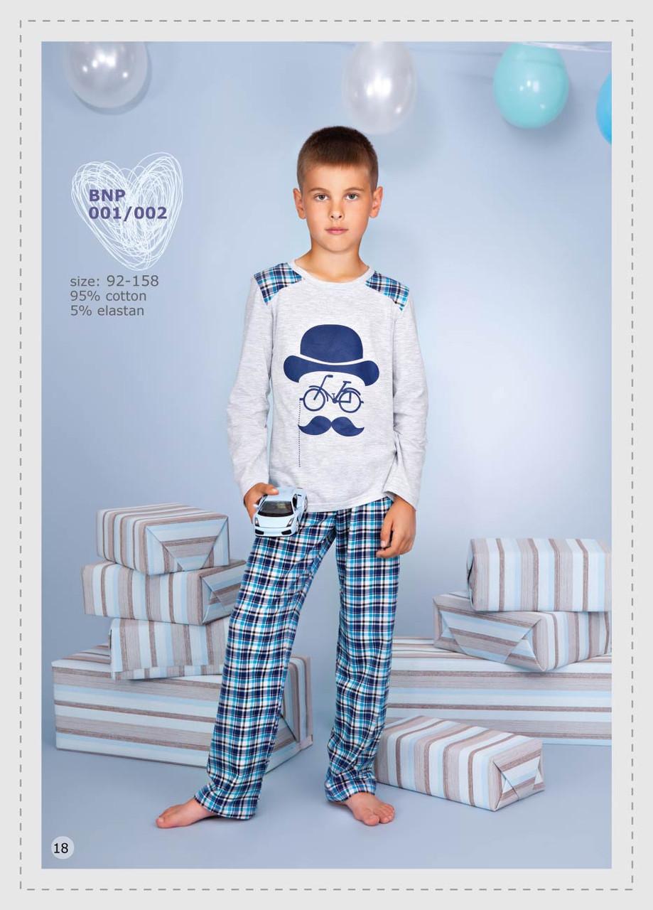 "Піжама для хлопчика довгий рукав ""Пуаро"" размер 122, 100% хлопок, ELLEN"