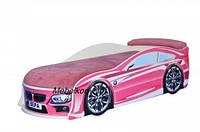 Кровать-машина BMW 180*80 см розовая