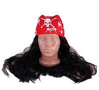 Карнавальный парик пирата с бонданой