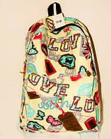 Красивый рюкзак для подростка с ярким принтом 1013/2