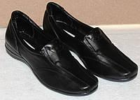 Туфли женские кожаные на широкую ногу, женские туфли кожаные от производителя модель Т1В4