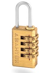Висячий кодовый замок для чемодана Авантэк NL 20 (латунь)