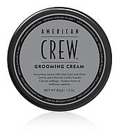Крем для стайлинга волос сильной фиксации и блеском  American Crew GROOMING CREAM