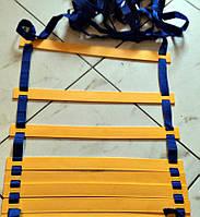 Лестница для тренировки скорости 12 ступеней - 6м (пластик, PL 4мм), фото 1