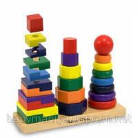 Детская Геометрическая пирамидка Melissa & Doug