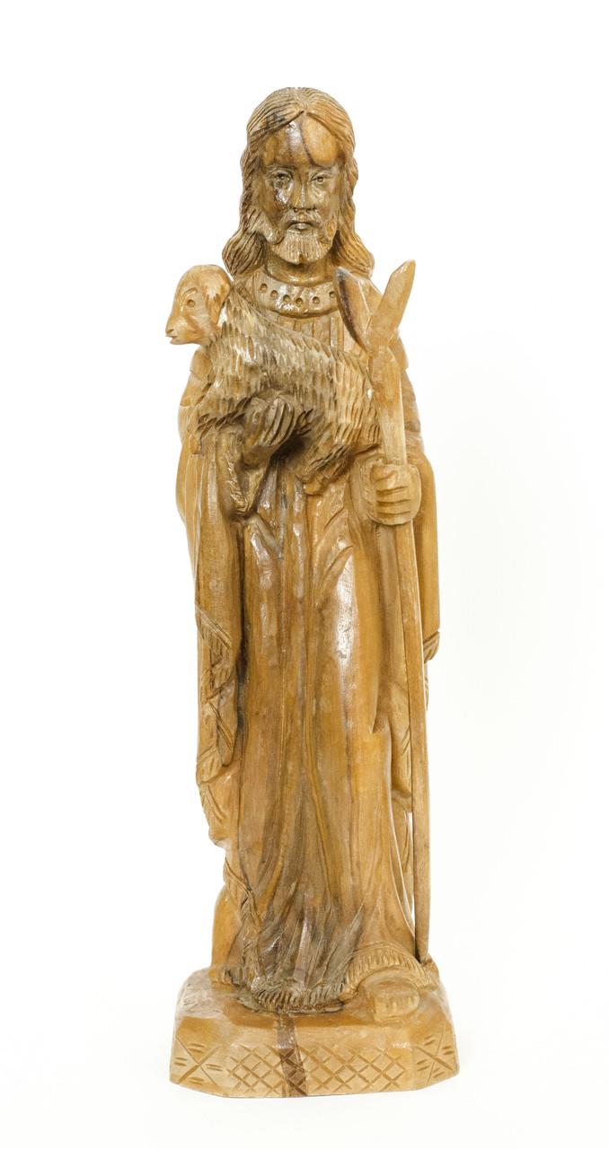 Иисус Христос с овечкой, дерево, Германия 26 см