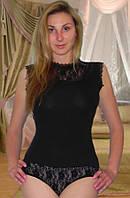 Женское боди с гофрированой лентой