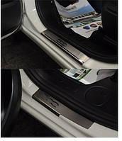 Накладки на пороги Fiat 500 L  2013- 4шт. premium