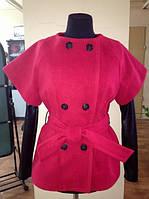Кашемировое пальто с кожаными 291 290 (ск)