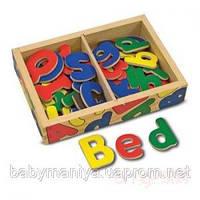 Детский деревянный магнитный набор - Алфавит Melissa & Doug