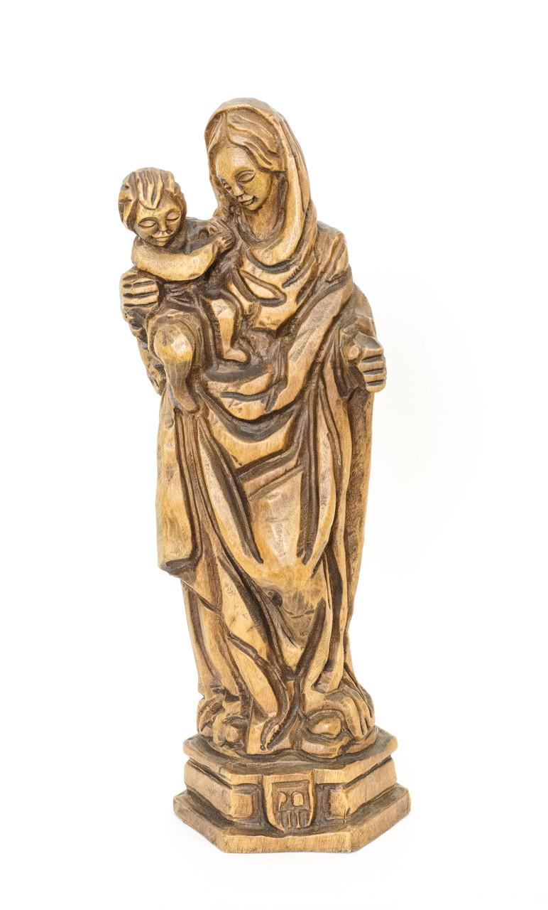 Скульптура, Мадонна с младенцем, дерево, Германия, 18 см