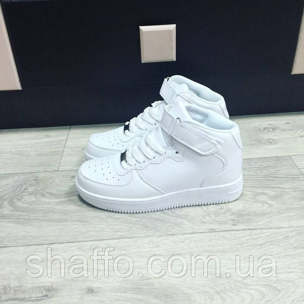 ce48c32a Женские белые высокие кроссовки Nike Air Force, цена 590 грн ...