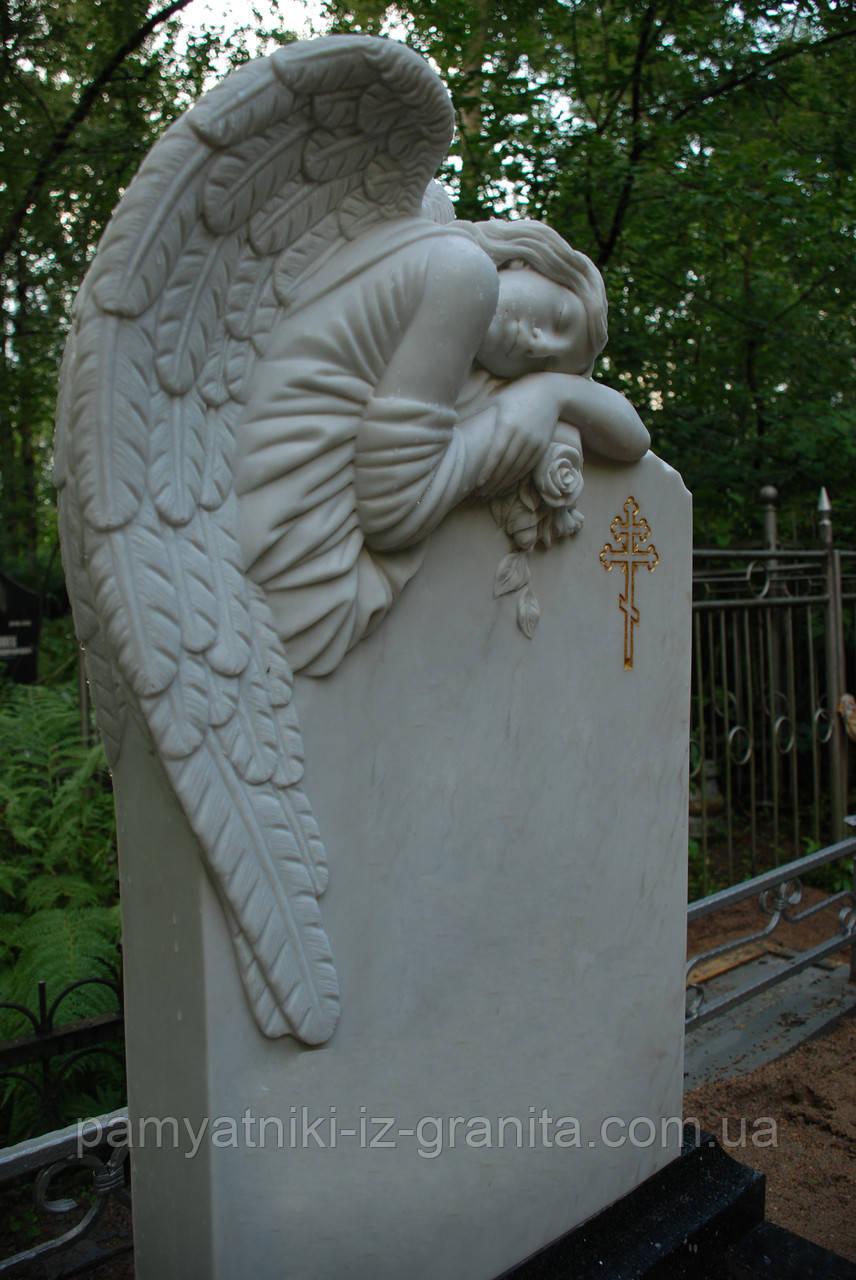 Скульптура барельеф ангела из мрамора № 77