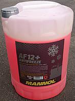 Антифриз красный Mannol AF12+ ( -40°C) 10 л.