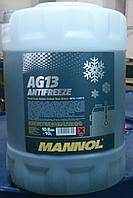 Антифриз зеленый Mannol AG13 (-40°C) 10 л.