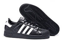 Кроссовки мужские Adidas Superstar Foundation 140 (Адидас Суперстар) черные