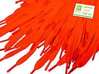 Шнурки для обуви (100см) плоские, ярко-оранжевые, фото 1