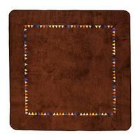 LURIG Ковер, короткий ворс, коричневый, 133x133 см