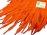 Шнурки для обуви (100см) плоские, оранжевые, фото 1