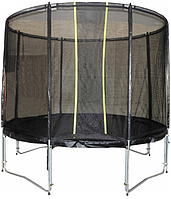 Батут диаметр - 244 см с защитной сеткой Kidigo VIP Black