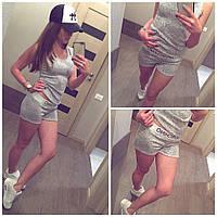 Спортивний літній костюм Moschino (Майка и шорты вязка Moschino)
