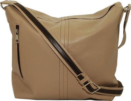 Замечательная женская сумочка на плечо из натуральной кожи VATTO Wk53 Fl5, бежевый