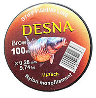 Леска DESNA Brown 9,74kg 100m 0,28mm