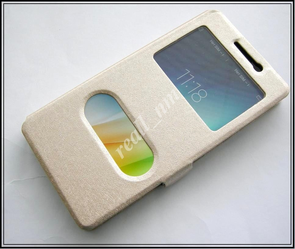 Золотой чехол-книжка DW Case для смартфона Lenovo A6010 Pro, Lenovo A6010 Music