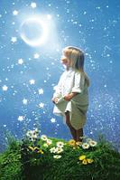 Плакат детский - Девочка и луна №1487