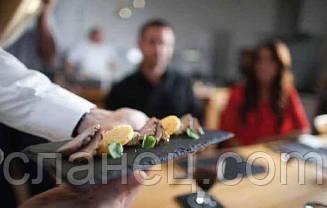 Аренда тарелки подноса из натурального сланца 25х12,5 см