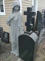 Скульптура ангела из гранита № 87