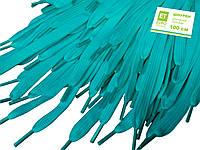 Шнурки для обуви (100см) плоские, голубые, фото 1