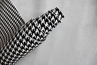Натуральная кожа для обуви и кожгалантереи белая с принтом(рисунком) арт. СК 2082