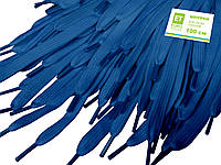Шнурки для обуви (100см) плоские, светло-синие, фото 1
