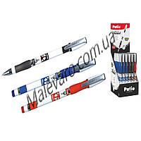 """Ручка шариковая """"ADDICT"""" , 0,7 мм,  чернило синего, черного, красного цвета, резиновый грип,  в дисплее 36 шт"""