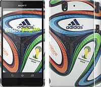 """Чехол на Sony Xperia Z C6602 Бразилия 2014 v5. Мяч """"1141c-40"""""""