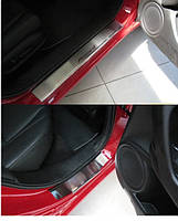 Накладки на пороги Honda Accord VIII 2008- 4шт. premium