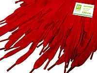 Шнурки для обуви (100см) плоские, красные, фото 1