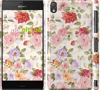 "Чехол на Sony Xperia Z3 D6603 Цветочные обои ""820c-58"""