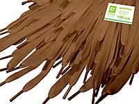 Шнурки для взуття 100см плоскі, світло-коричневі, ширина 10мм, фото 1